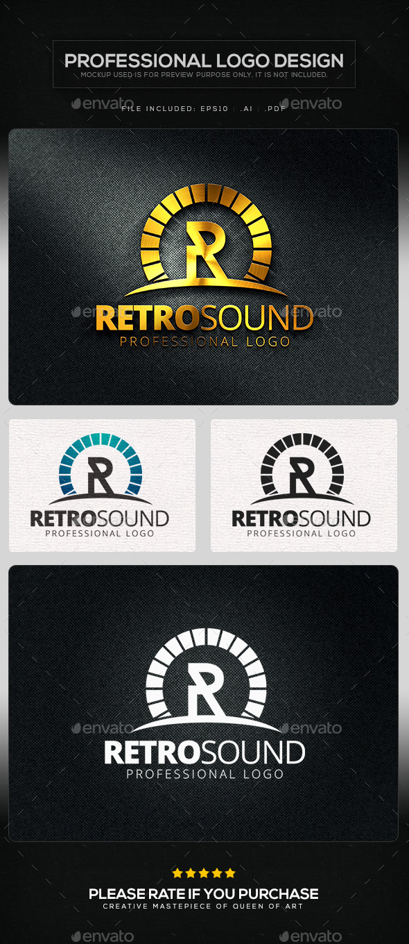 Retro Sound Logo Template - Letters Logo Templates