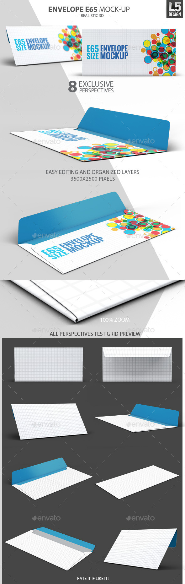Envelope E65 Mock-Up - Miscellaneous Product Mock-Ups