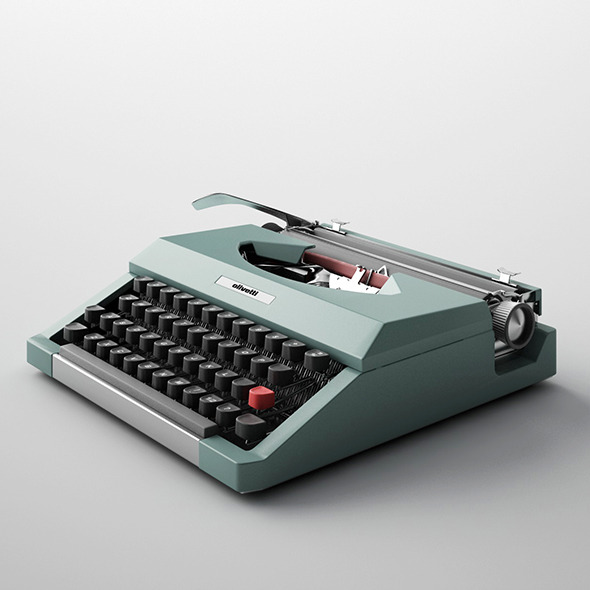 Lettera Olivetti Typewriter - 3DOcean Item for Sale