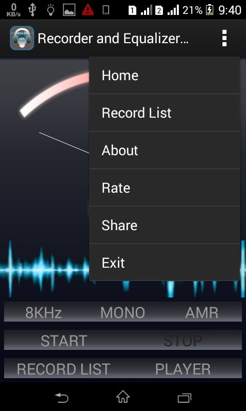 Recorder and Equalizer Player with Effect