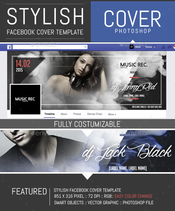 Elegant Party and Dj Facebook Cover Template - Facebook Timeline Covers Social Media