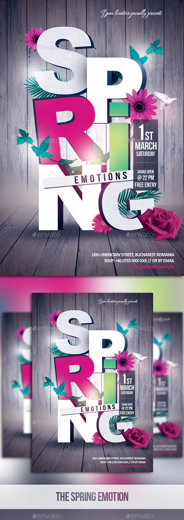 The Spring Emotions - Events Flyers