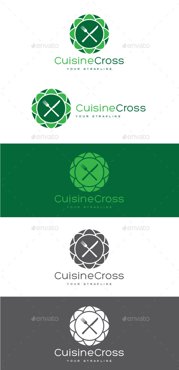 Cuisine Cross Logo - Food Logo Templates