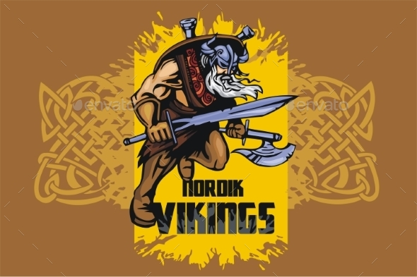 Viking Warrior with Sword - People Characters