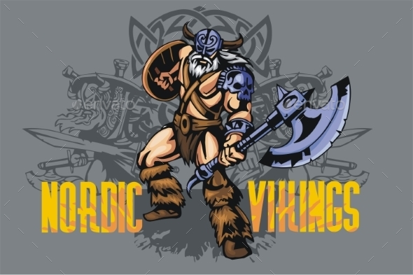 Viking Warrior with Axe - People Characters