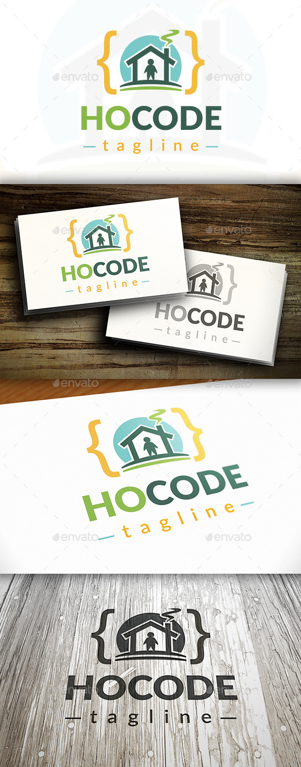 House Code Logo - Buildings Logo Templates