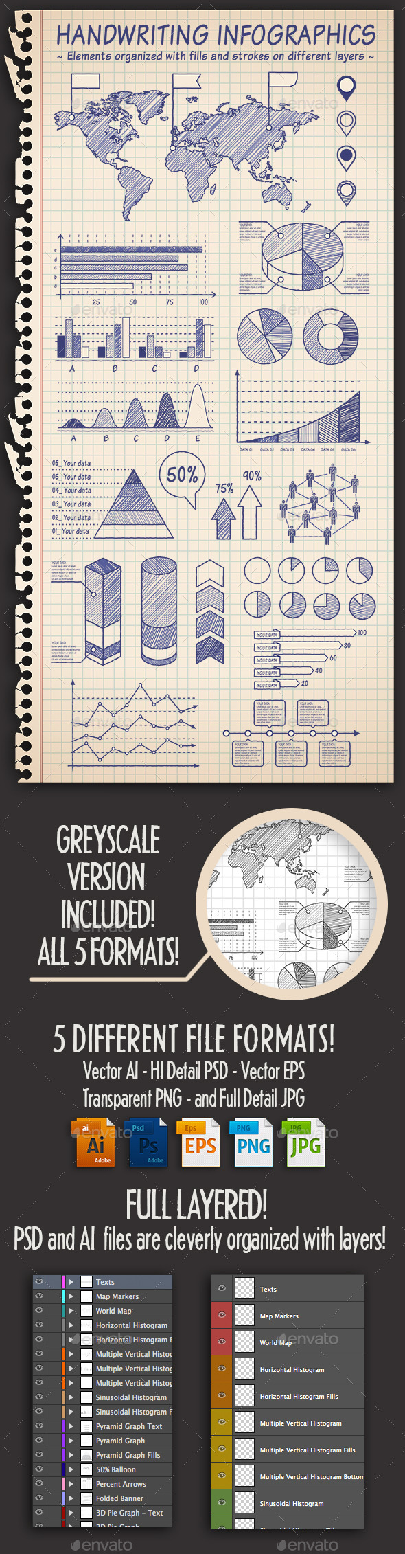 Hand Drawn Sketch Infographics - Infographics
