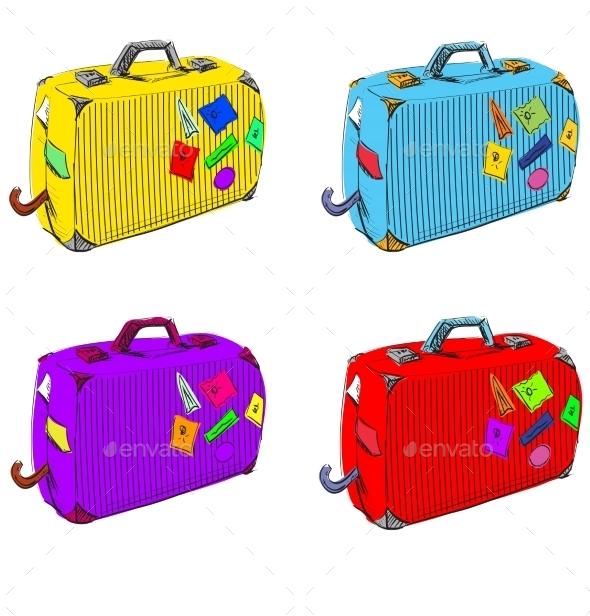 Journey Suitcases. - Travel Conceptual