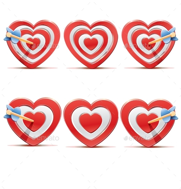 Collection of Aim Hearts. - Valentines Seasons/Holidays
