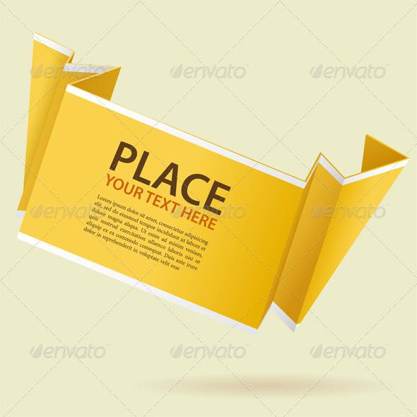 Paper Origami Banner - Borders Decorative