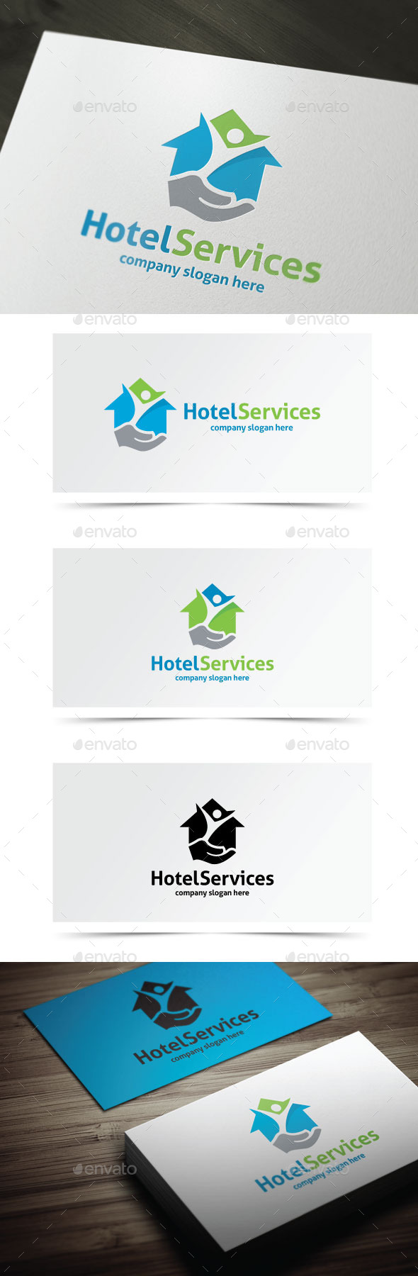 Hotel Services - Objects Logo Templates