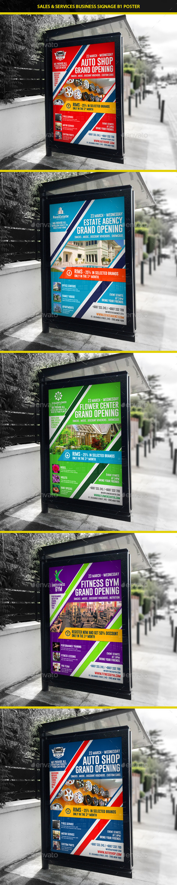 Agency & Shop Grand Opening B1 Poster - Signage Print Templates