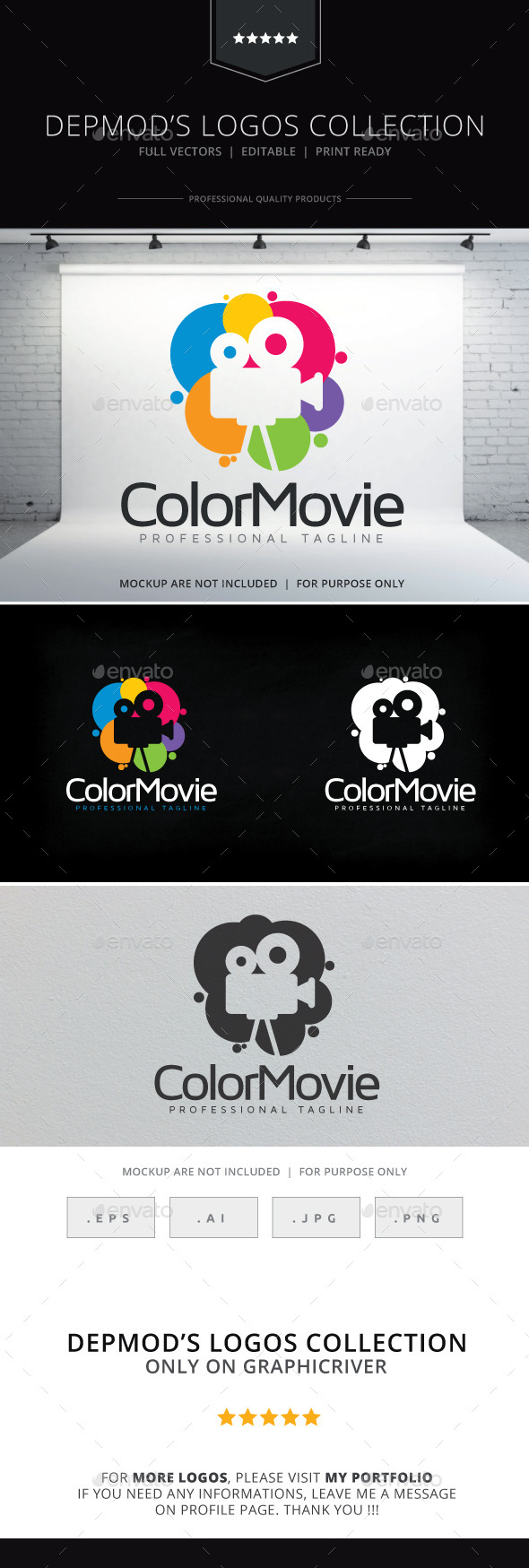 Color Movie Logo - Objects Logo Templates