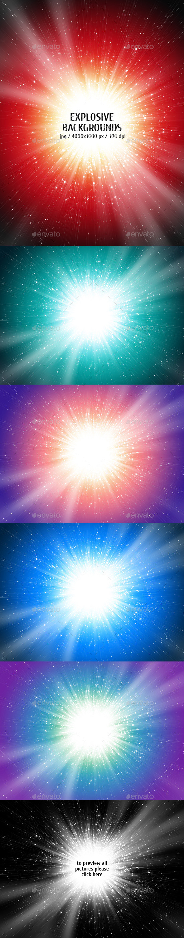 Explosive Backgrounds - Abstract Backgrounds