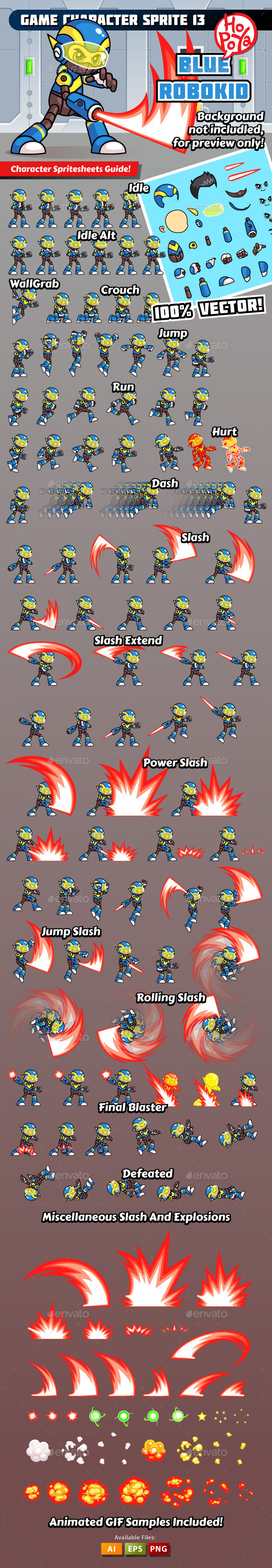 Game Character Sprite 13 - Sprites Game Assets