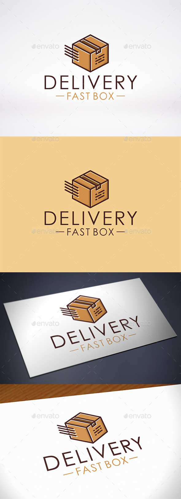 Fast Box Delivery Logo Template - Objects Logo Templates