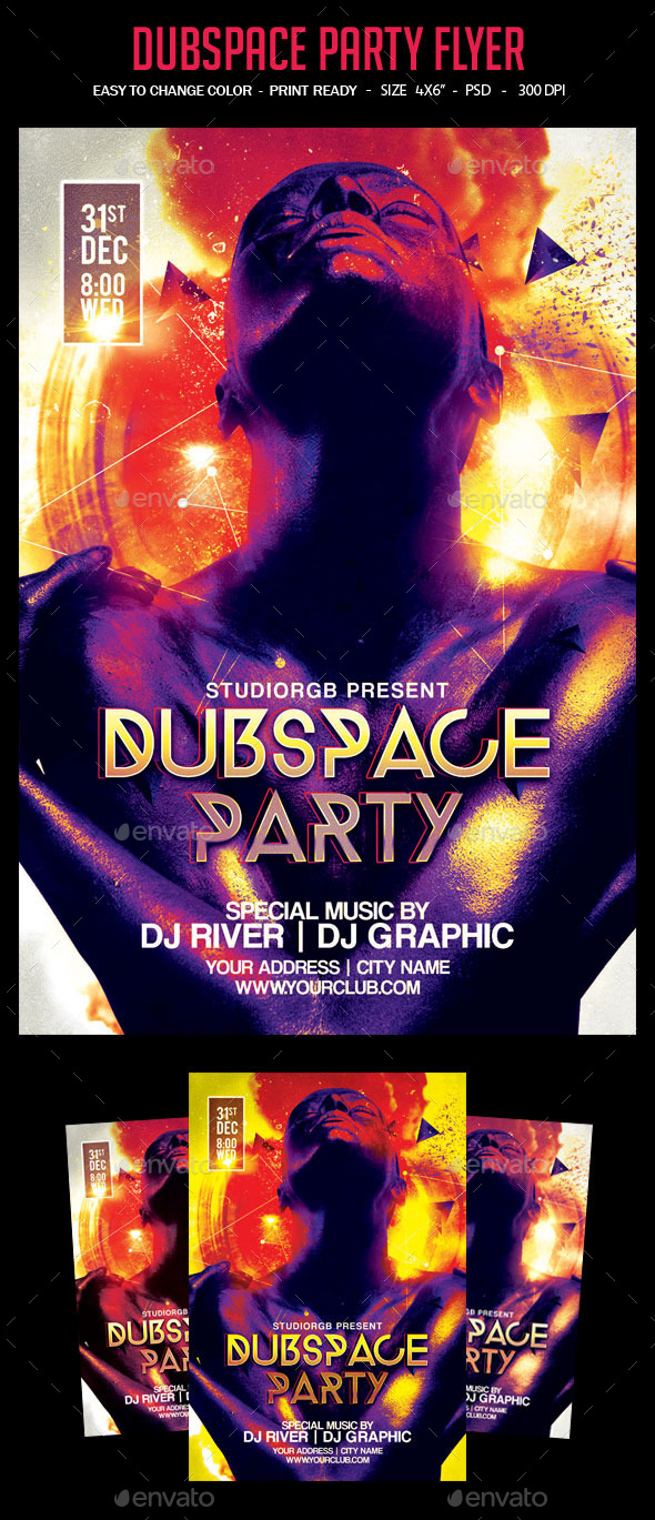 Dubspace Party Flyer - Clubs & Parties Events