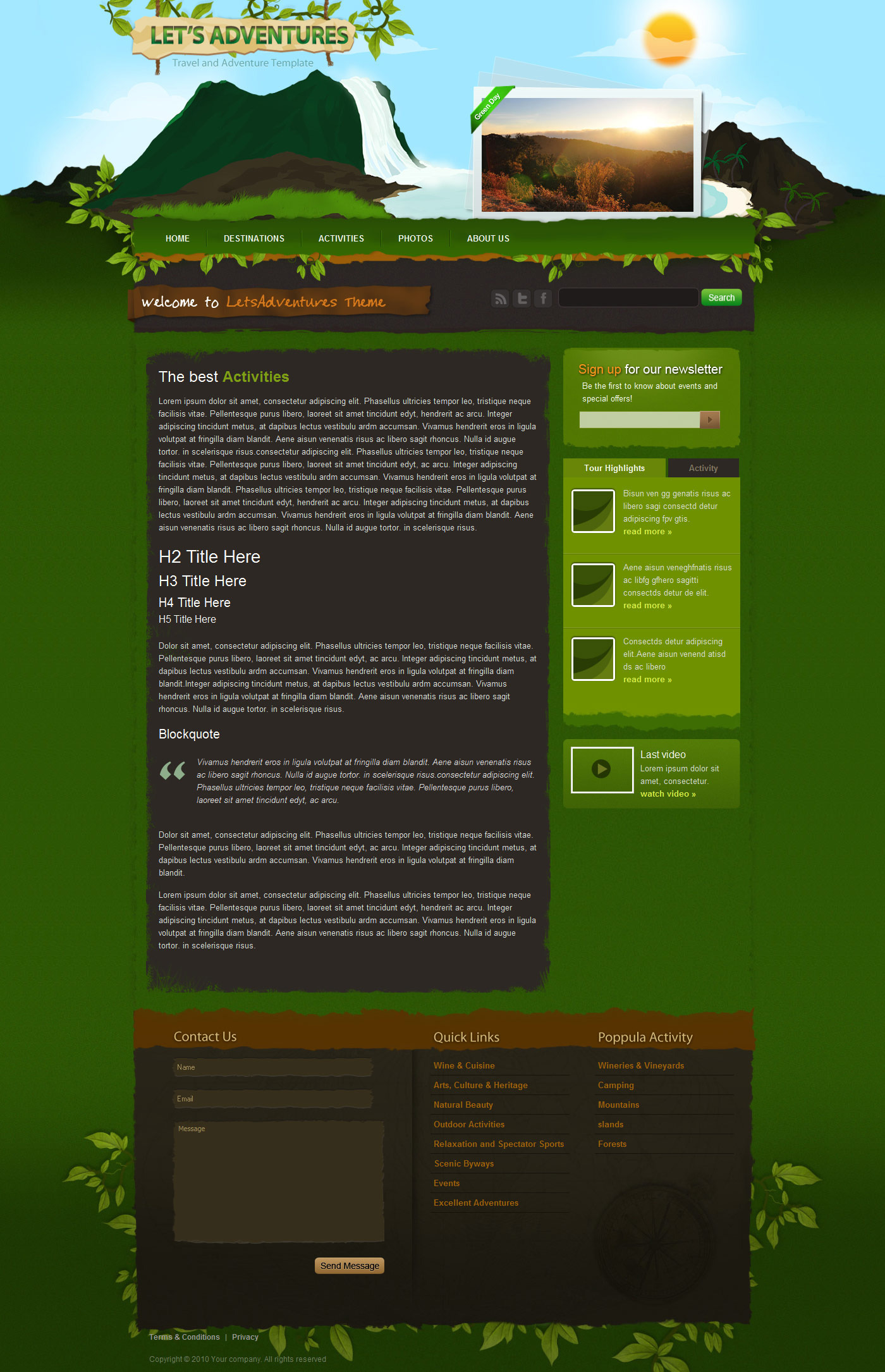 Let\'s Adventures HTML/CSS template by LayerSky | ThemeForest