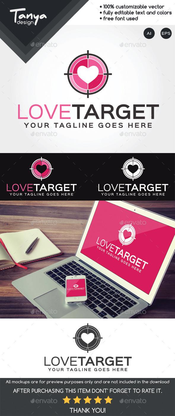 Love Target Logo Template - Symbols Logo Templates