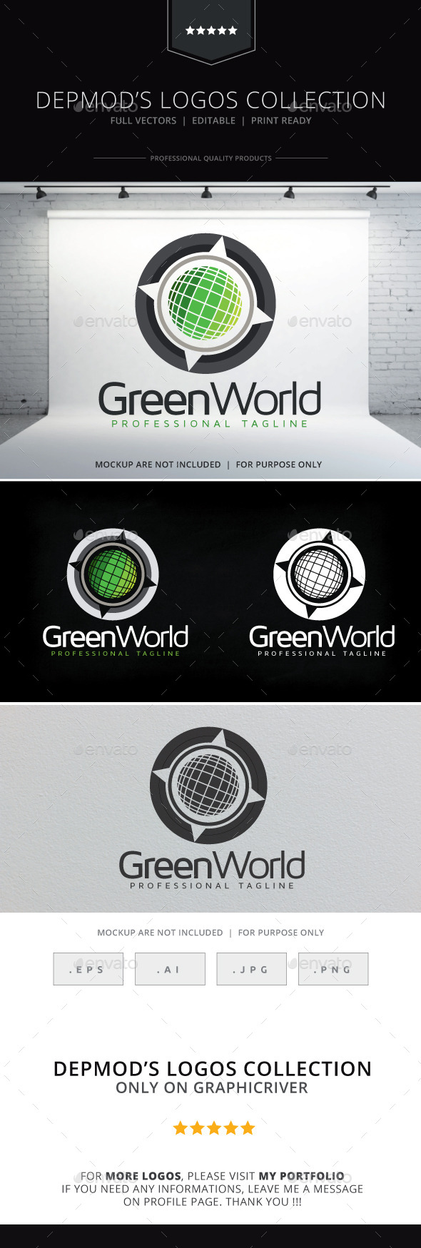 Green World Logo - Symbols Logo Templates