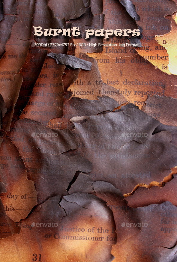 Burnt Papers Background 0109 - Textures