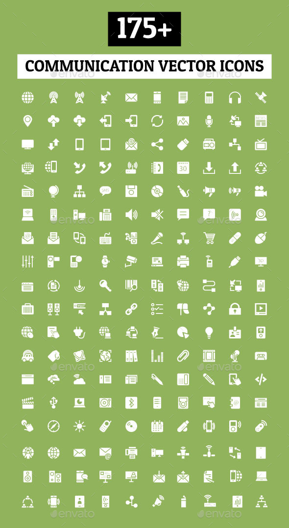 175+ Communication Vector Icons - Technology Icons