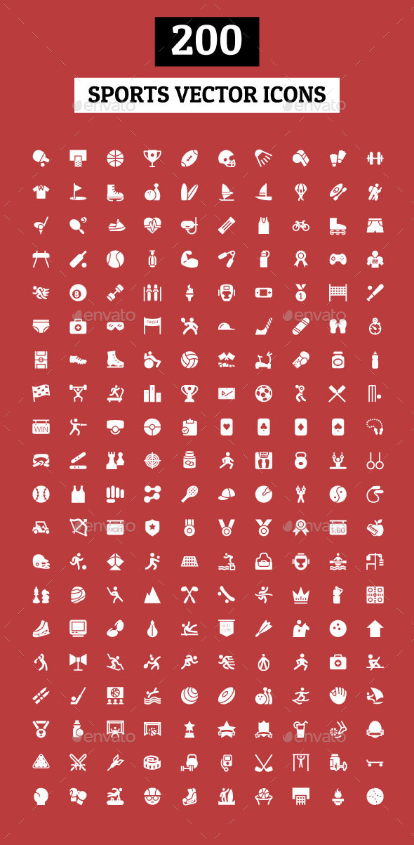 200 Sports Vector Icons - Icons