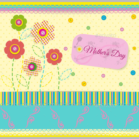 Abstract Background in Scrapbook Style - Miscellaneous Seasons/Holidays