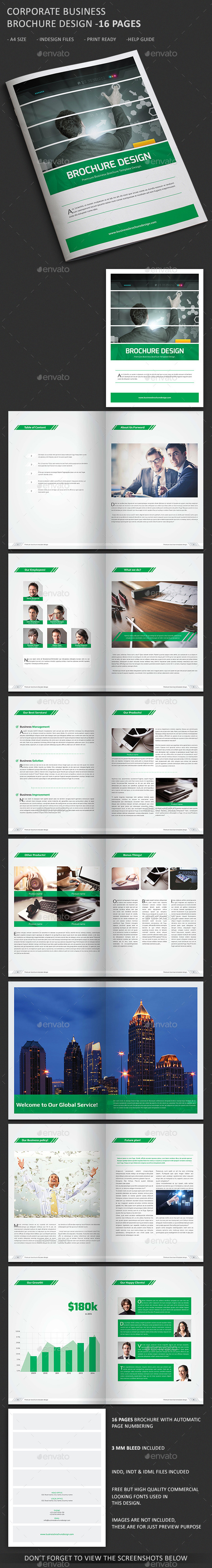 Bi-Fold Corporate Business Brochure - Corporate Brochures