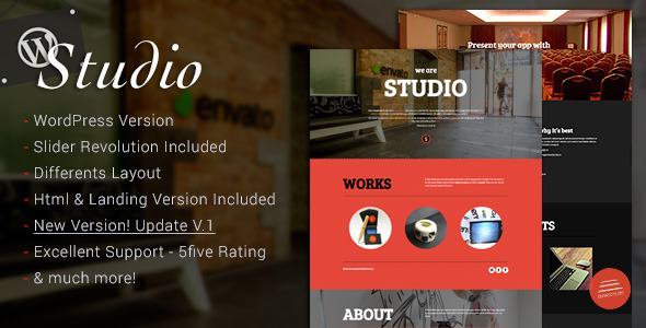 Studio – Multipurpose Software Technology WordPress Theme