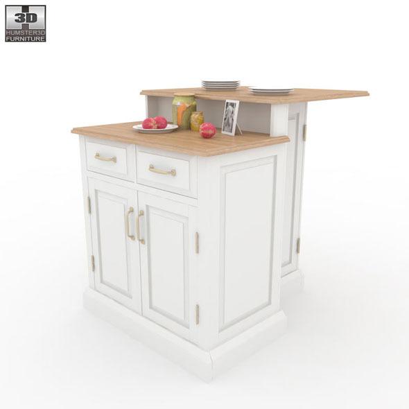 Woodbridge Two Tier Kitchen Island - Home Styles