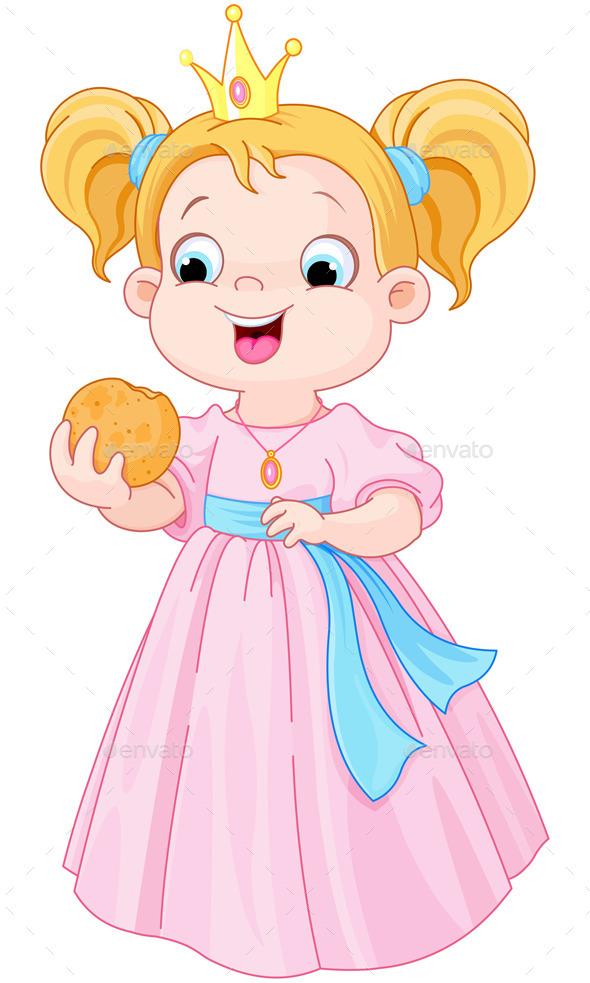 Princess Eats Hamburger - People Characters