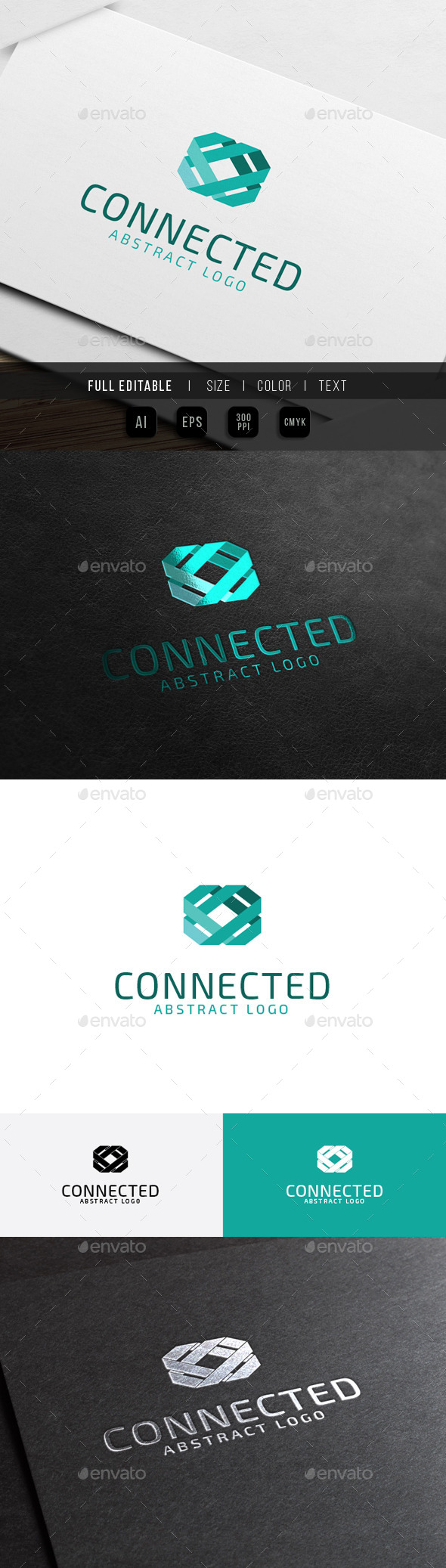 Abstract Connect - Link Technology - Abstract Logo Templates