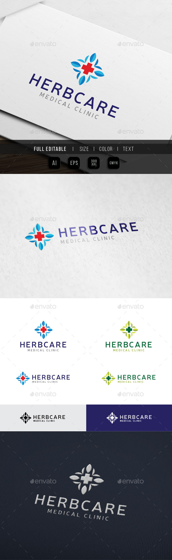 Herbal Clinic - Hospital - Symbols Logo Templates