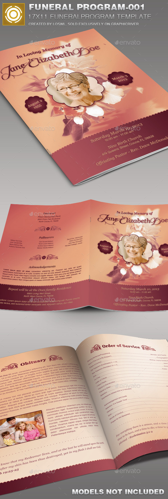 Funeral Program Template-001 - Church Flyers