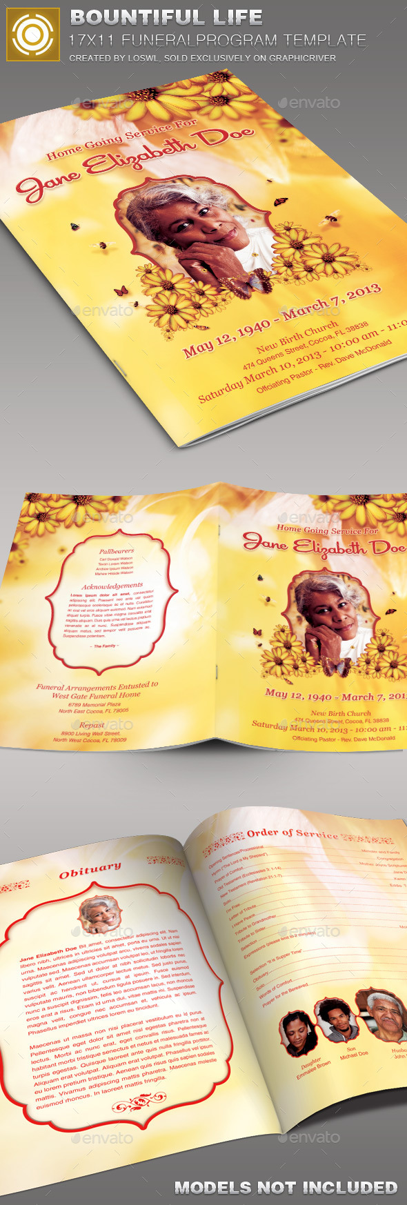 Bountiful Life Funeral Program Template-002 - Church Flyers