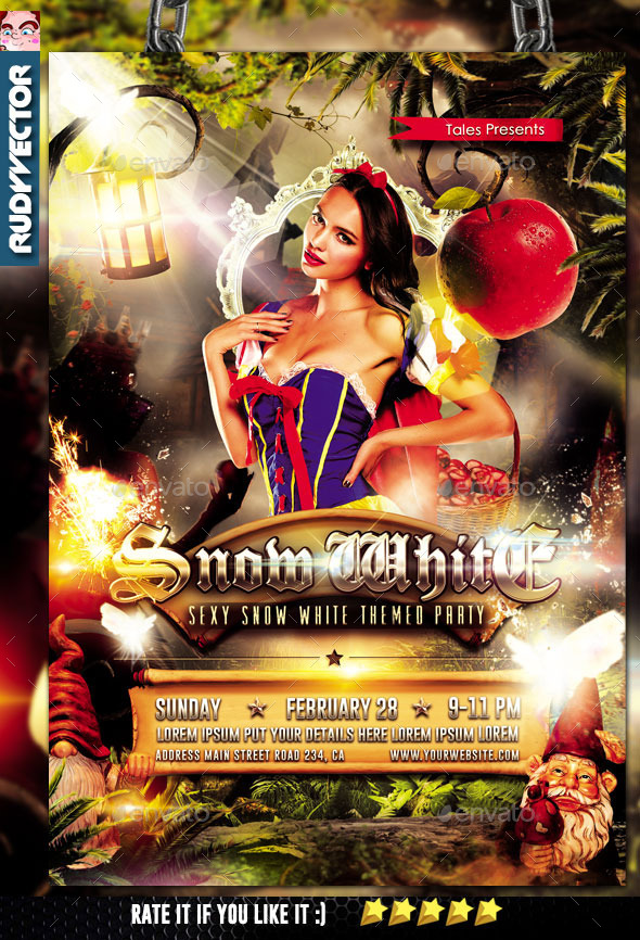 Sexy Snow White Theme Flyer - Events Flyers