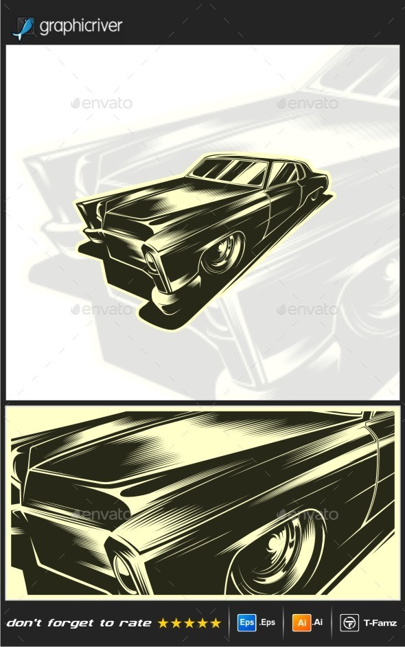 Classic Car Vector - Man-made Objects Objects