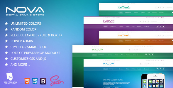 SNS Nova - Responsive Prestashop Theme - Technology PrestaShop