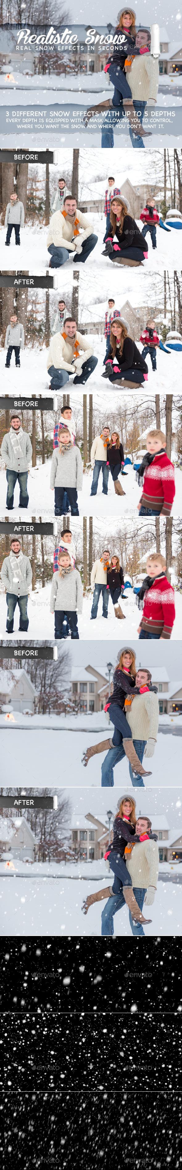 Realistic Snow - Decorative Graphics