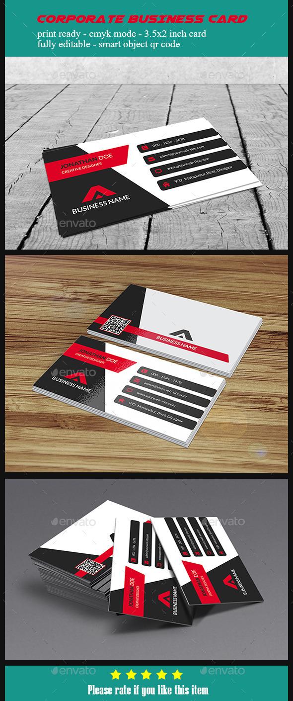 Corporate Business Card - V5 - Corporate Business Cards