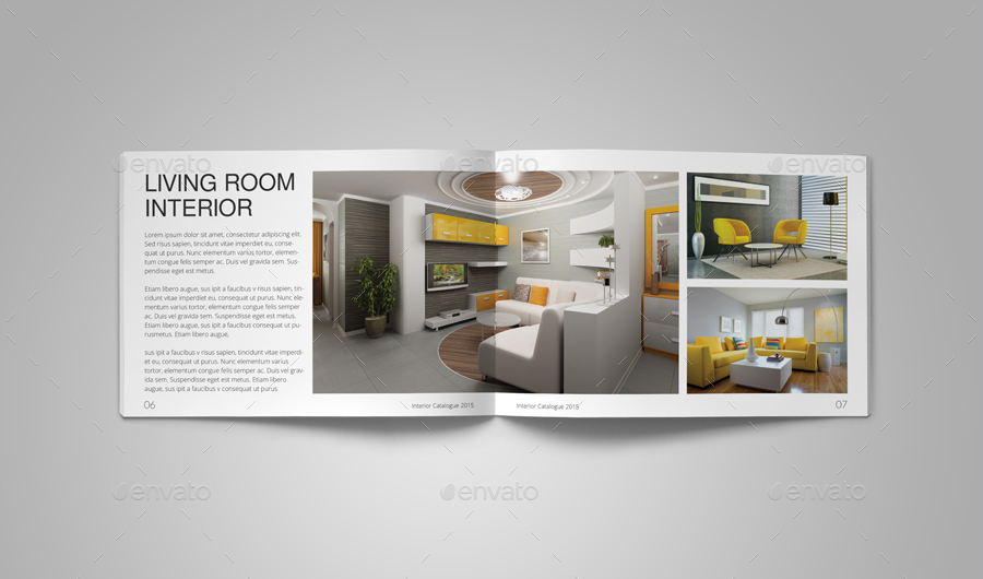 Interior catalog template by habageud graphicriver for Interior brochure designs