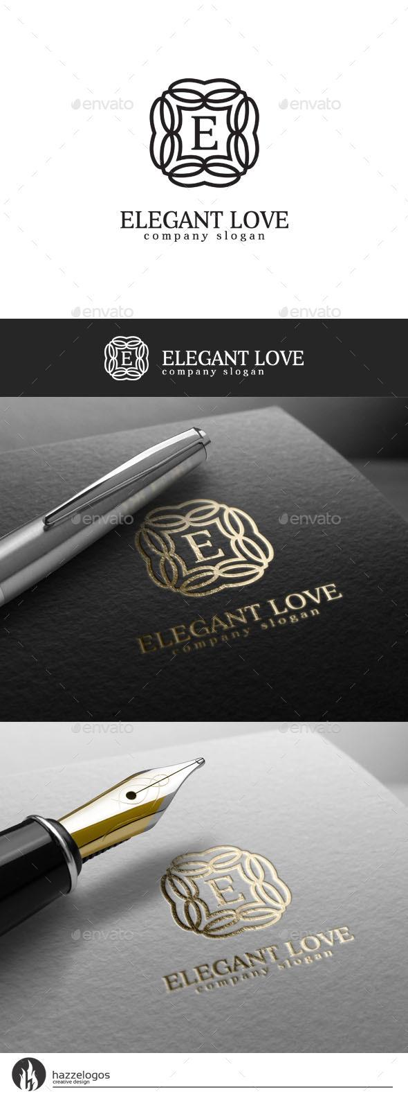 Elegant Love Logo - Crests Logo Templates