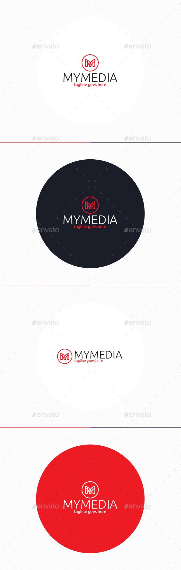 My Media Logo • Letter M - Letters Logo Templates