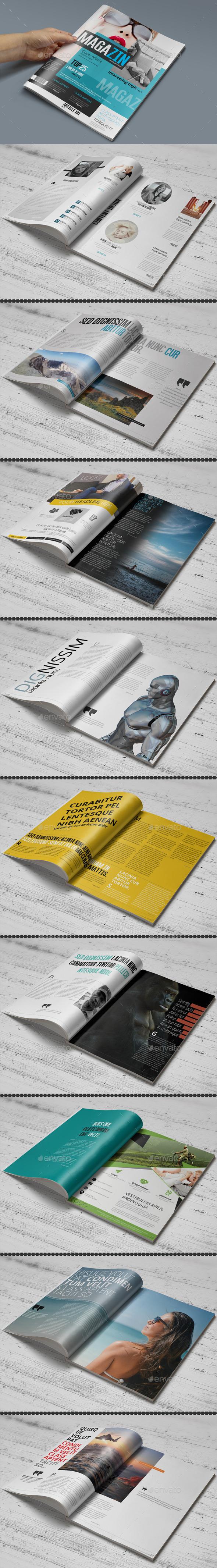 Magazine Template - Photoshop PSD - Magazines Print Templates