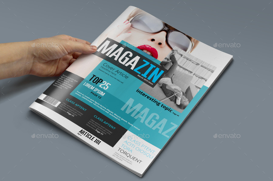 Magazine template photoshop psd by pmvch graphicriver for E magazine templates free download