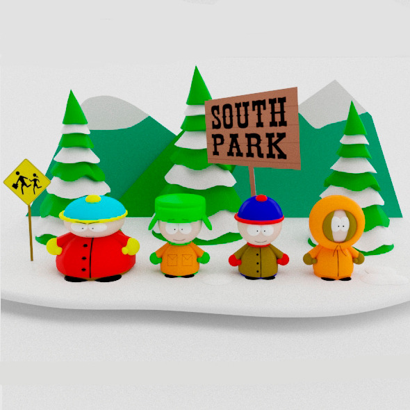 South Park Low Poly - 3DOcean Item for Sale