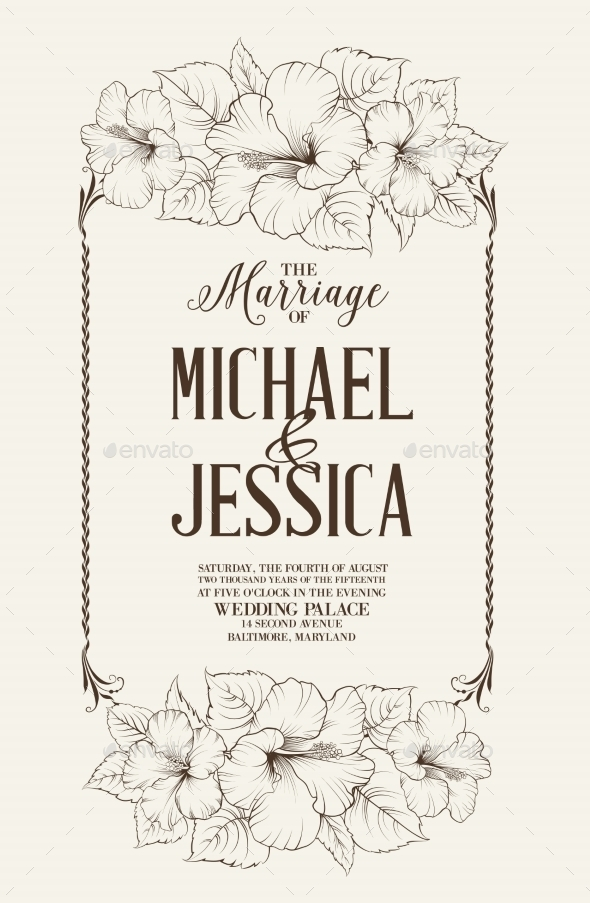Marriage Design Template - Flowers & Plants Nature