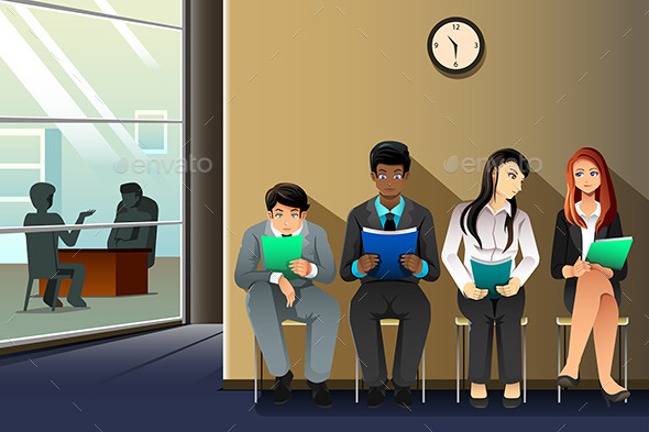 People Waiting for Job Interview - People Characters