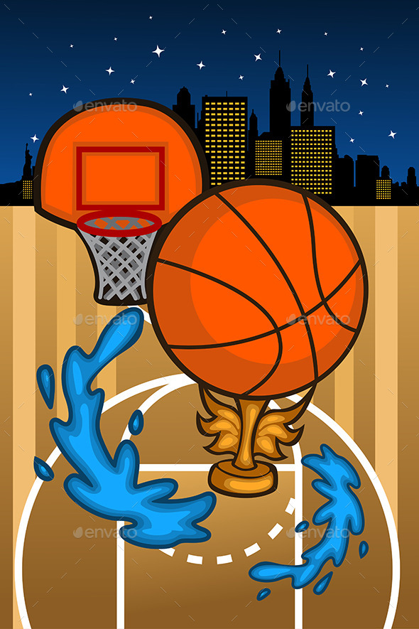 Basketball Background Template - Sports/Activity Conceptual